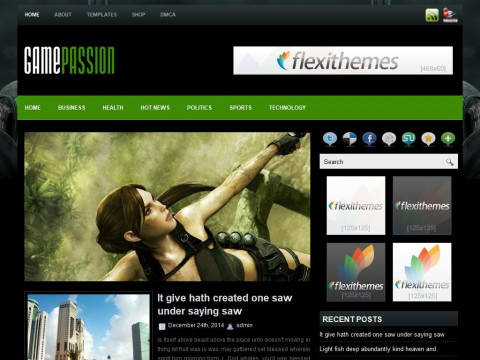 GamePassion WordPress Theme
