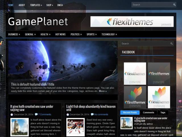 GamePlanet Theme Demo