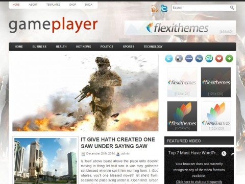 GamePlayer WordPress Theme