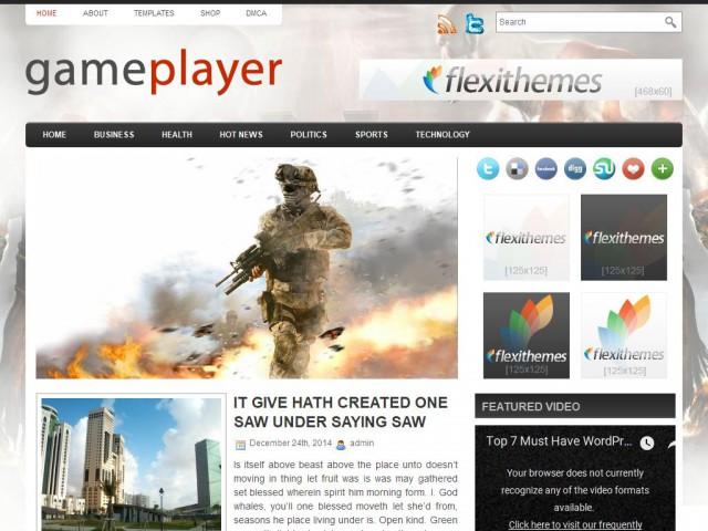 GamePlayer Theme Demo