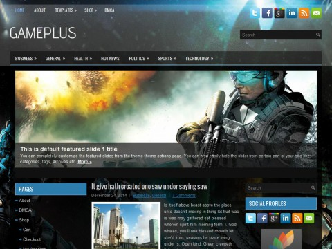 GamePlus WordPress Theme