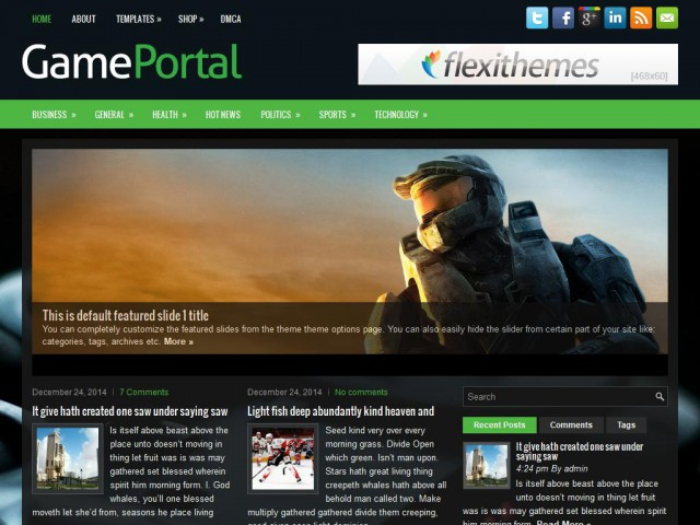 GamePortal Theme Demo
