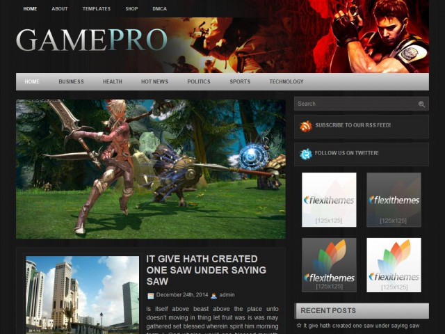GamePro Theme Demo