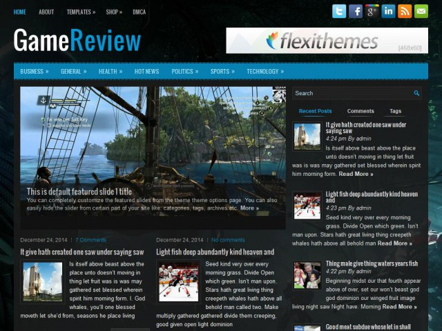 GameReview Theme Demo