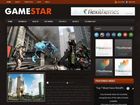 Game Star WordPress Theme