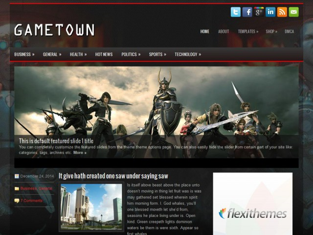 GameTown Theme Demo