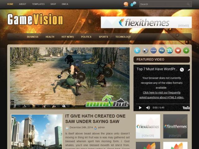 GameVision Theme Demo