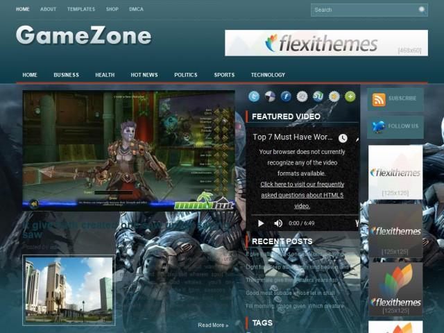 GameZone Theme Demo