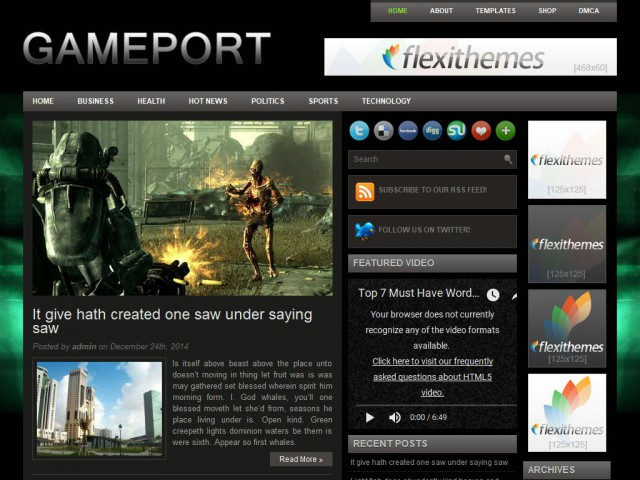 Gameport Theme Demo