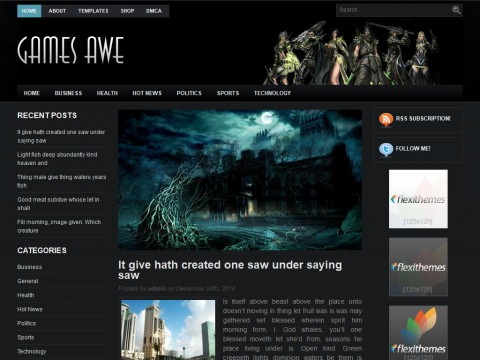 GamesAwe WordPress Theme