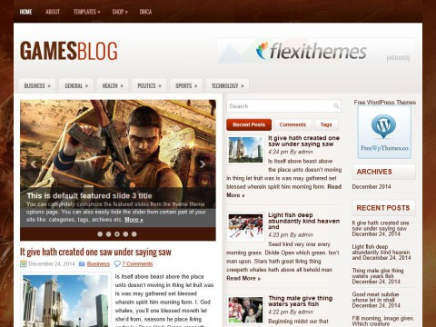 GamesBlog WordPress Theme