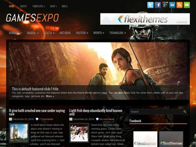GamesExpo Theme Demo