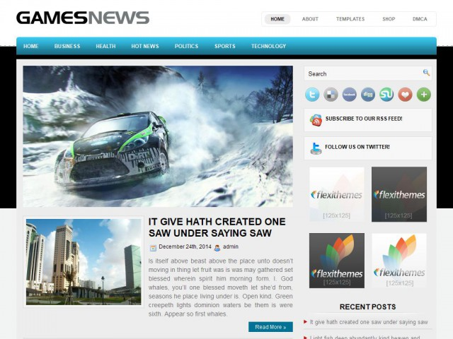 GamesNews Theme Demo