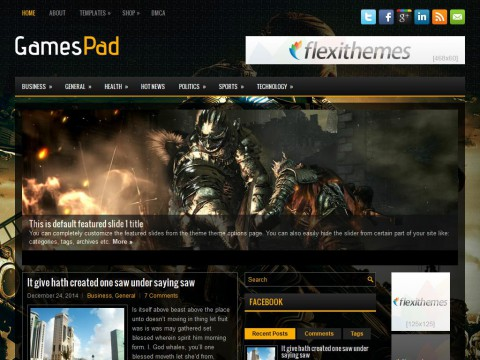 GamesPad WordPress Theme