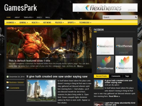 GamesPark WordPress Theme