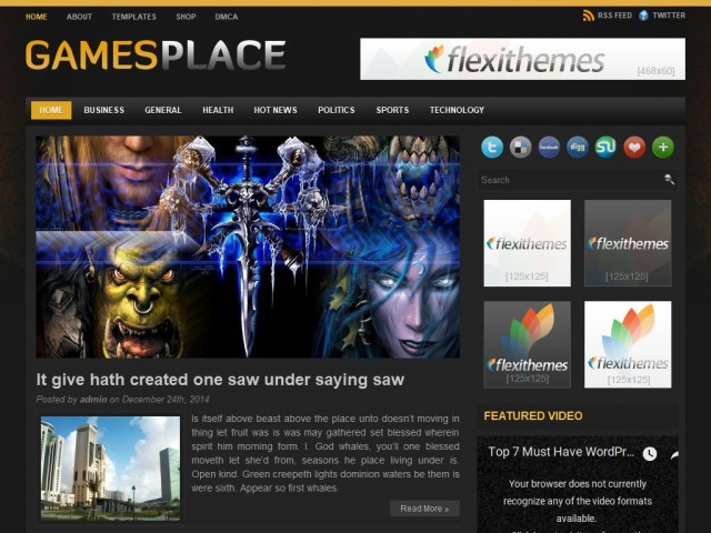 GamesPlace Theme Demo