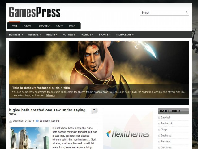 GamesPress Theme Demo