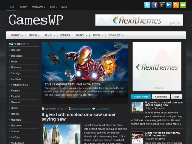 GamesWP Theme Demo