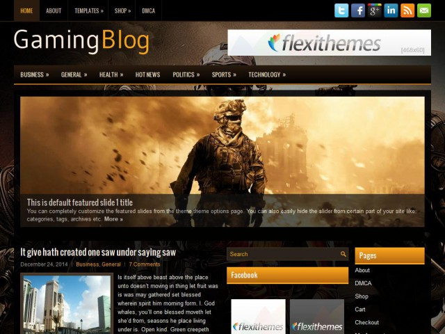 GamingBlog Theme Demo