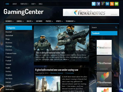 GamingCenter WordPress Theme