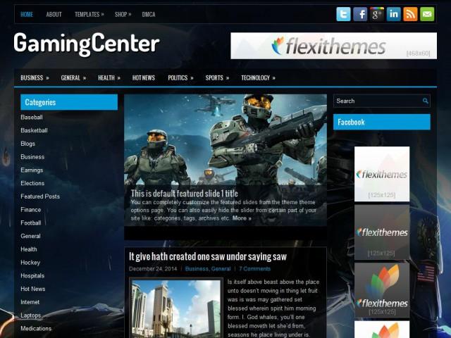 GamingCenter Theme Demo