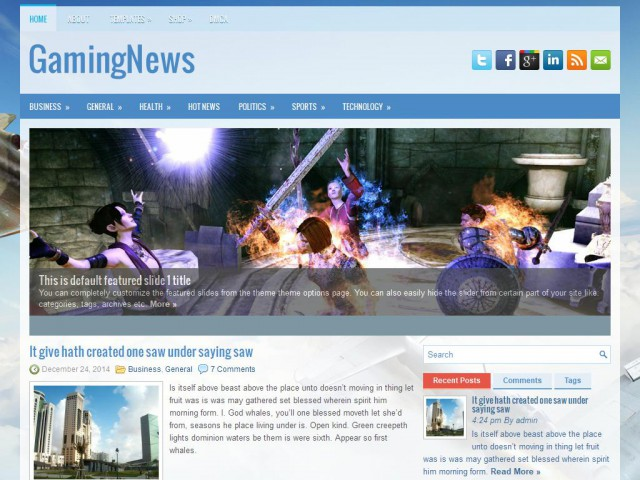 GamingNews Theme Demo