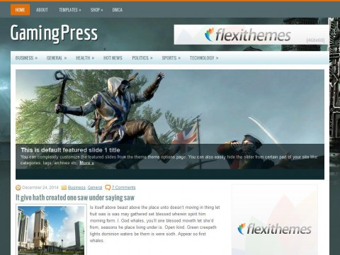 GamingPress WordPress Theme
