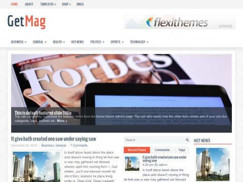 GetMag WordPress Theme