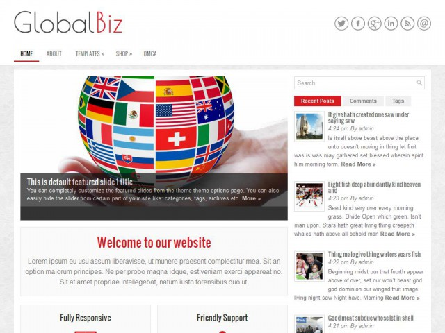 GlobalBiz Theme Demo