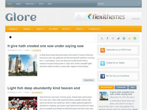 Glore WordPress Theme