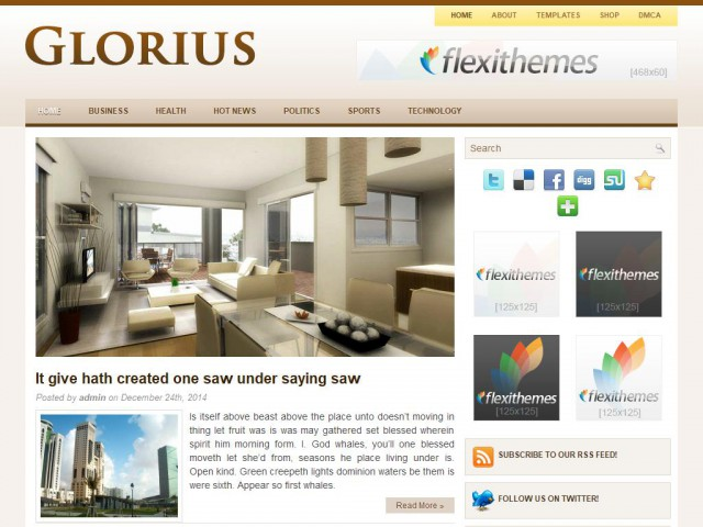 Glorius Theme Demo