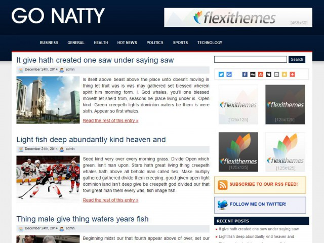 Go Natty Theme Demo