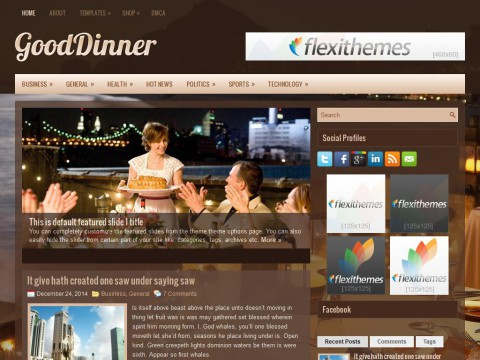 GoodDinner WordPress Theme