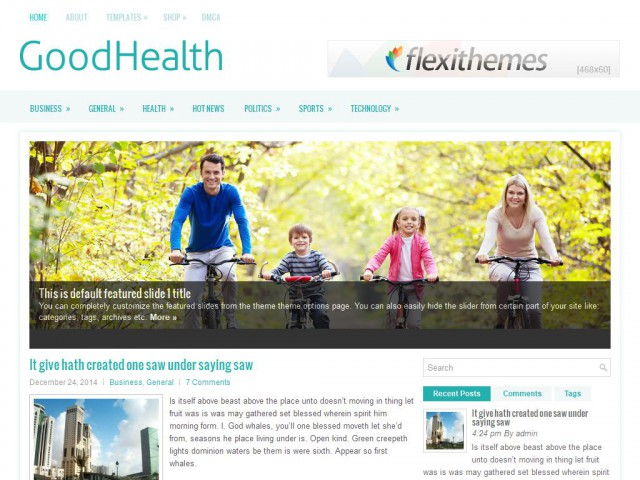 GoodHealth Theme Demo