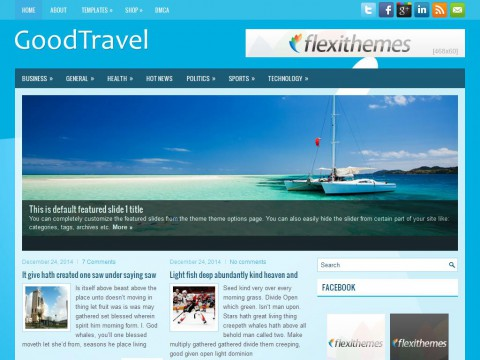 GoodTravel WordPress Theme