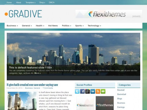 Gradive WordPress Theme