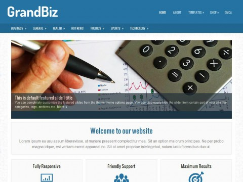 GrandBiz WordPress Theme