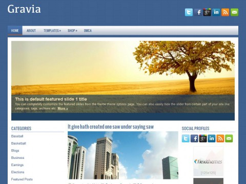 Gravia WordPress Theme
