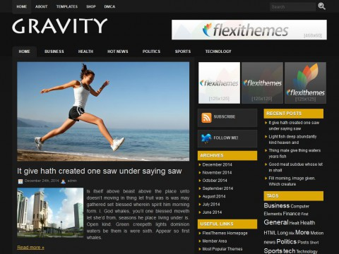 Gravity WordPress Theme