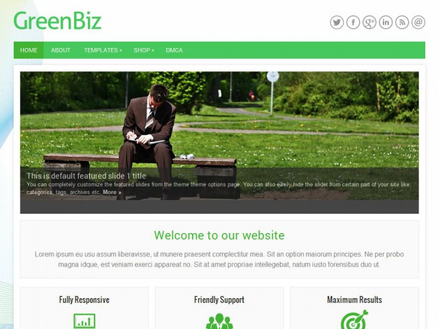 GreenBiz Theme Demo