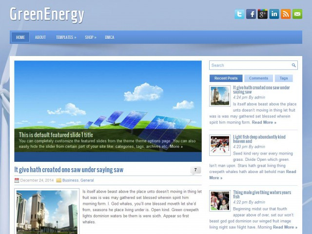 GreenEnergy Theme Demo