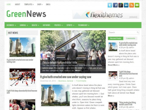 GreenNews WordPress Theme