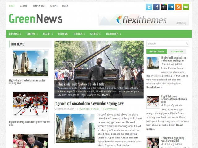 GreenNews Theme Demo