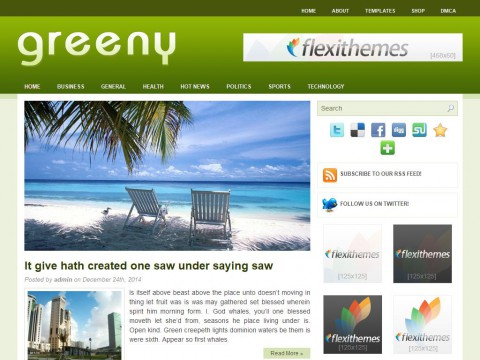 Greeny WordPress Theme