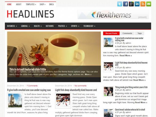 Headlines Theme Demo