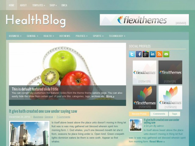 HealthBlog Theme Demo