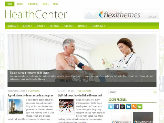 HealthCenter Theme Demo