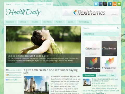 HealthDaily WordPress Theme
