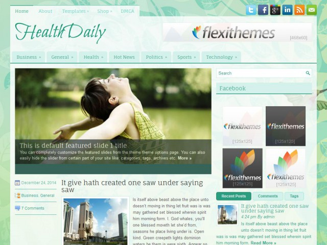 HealthDaily Theme Demo