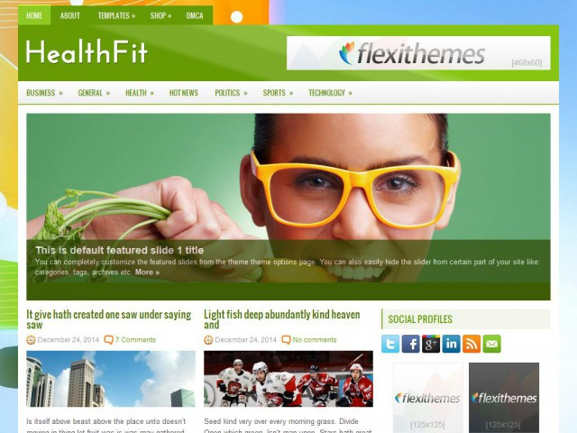 HealthFit Theme Demo